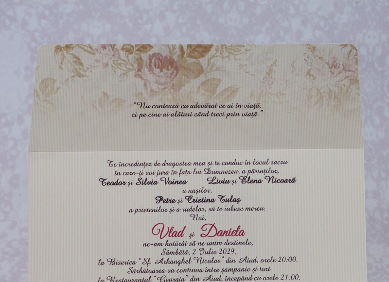 Invitatie de nunta 2211. Poza 6977