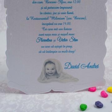 Poza Invitatie de botez 8149. Poza 5718